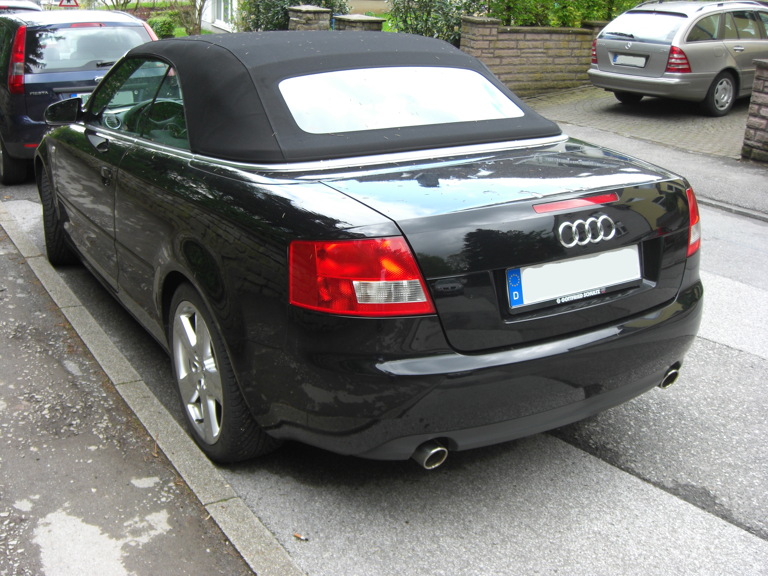 File Audi A4 Cabriolet B6 Rear Jpg Wikimedia Commons