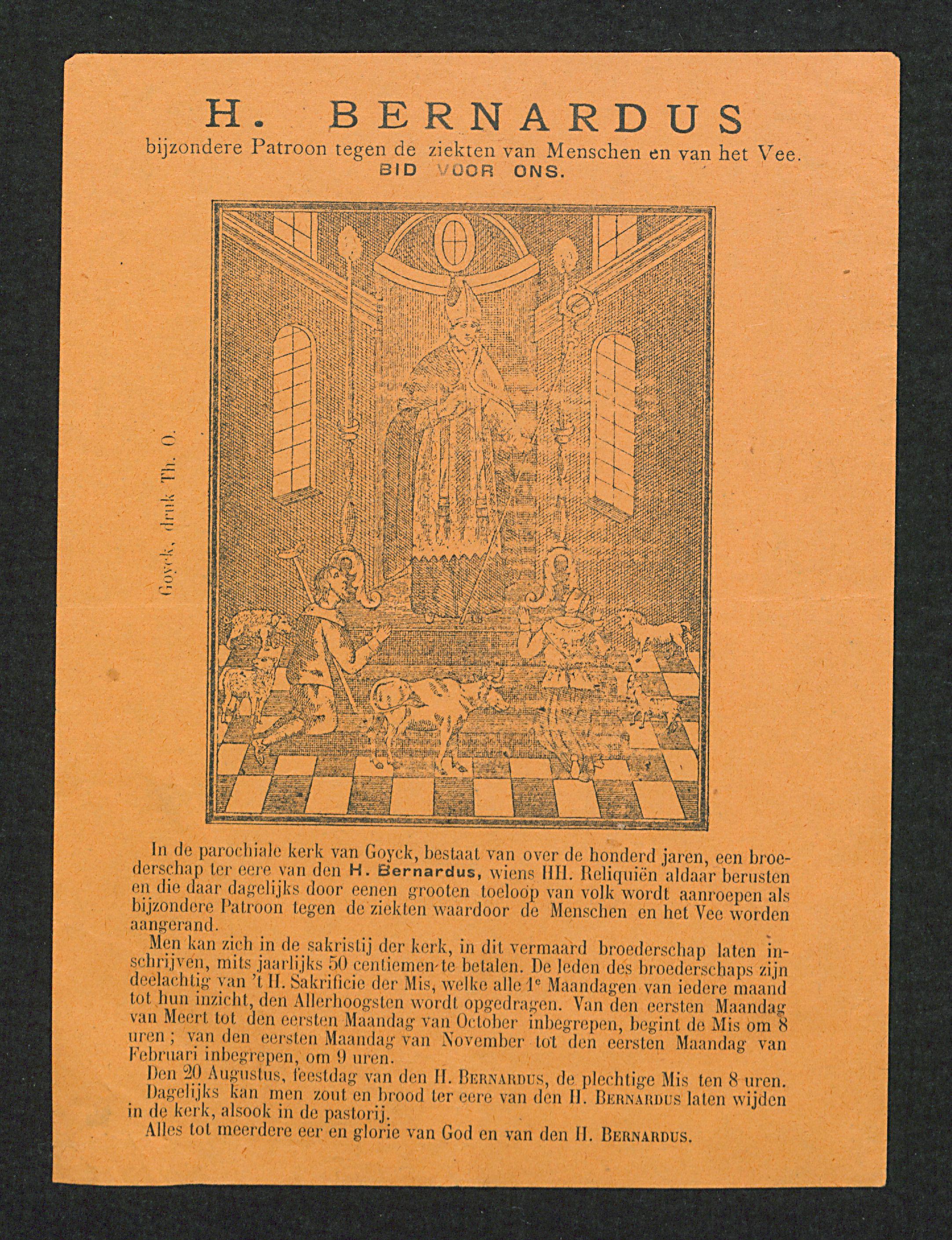 Filebernardus Van Clairvaux Met Pelgrims En Dieren Tg Uact