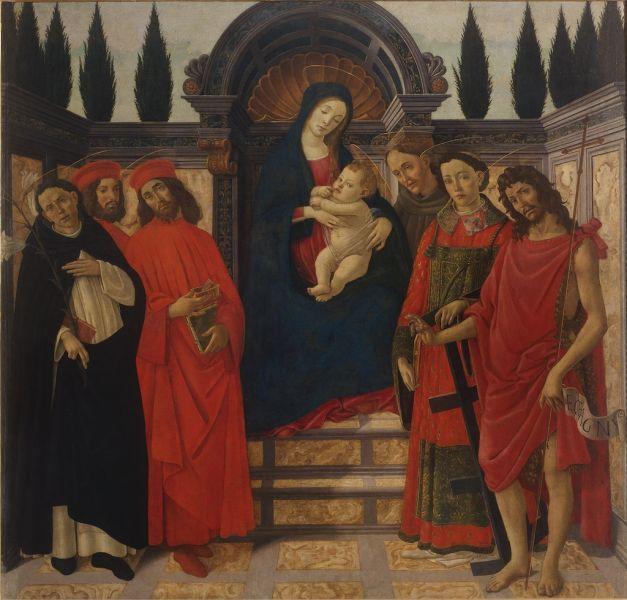 Botticelli - Pala del Trebbio