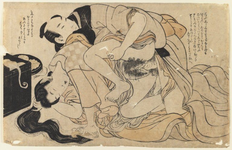 File:Brooklyn Museum - Amorous Couple (woodblock print) - Kitagawa Utamaro.jpg