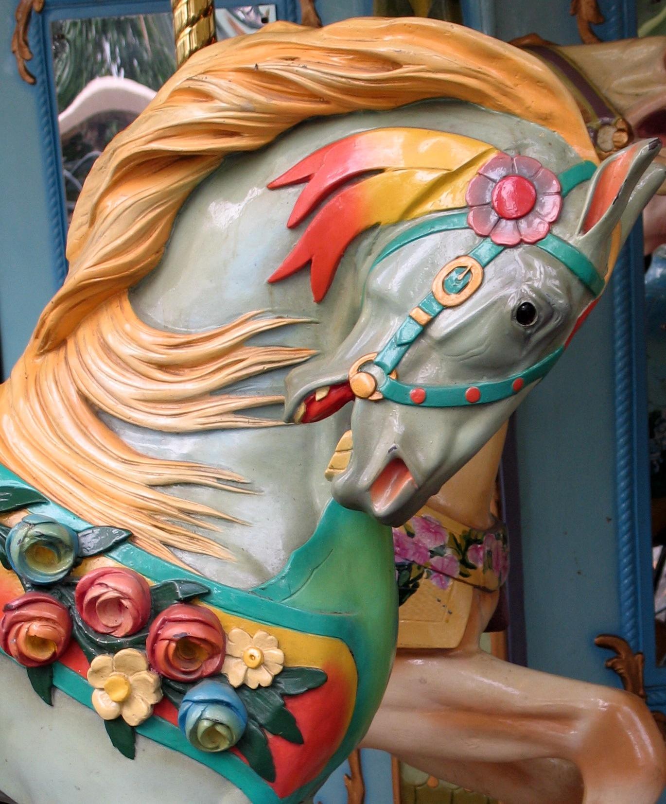 Folk Art Horse And Fish Wagon Painting