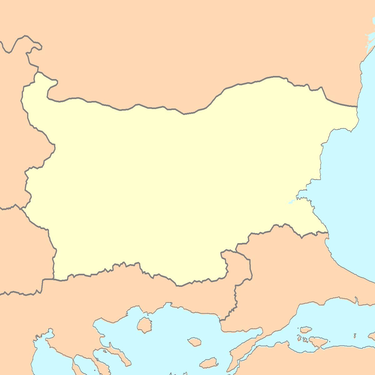 Bulgaria Blank Map Outline