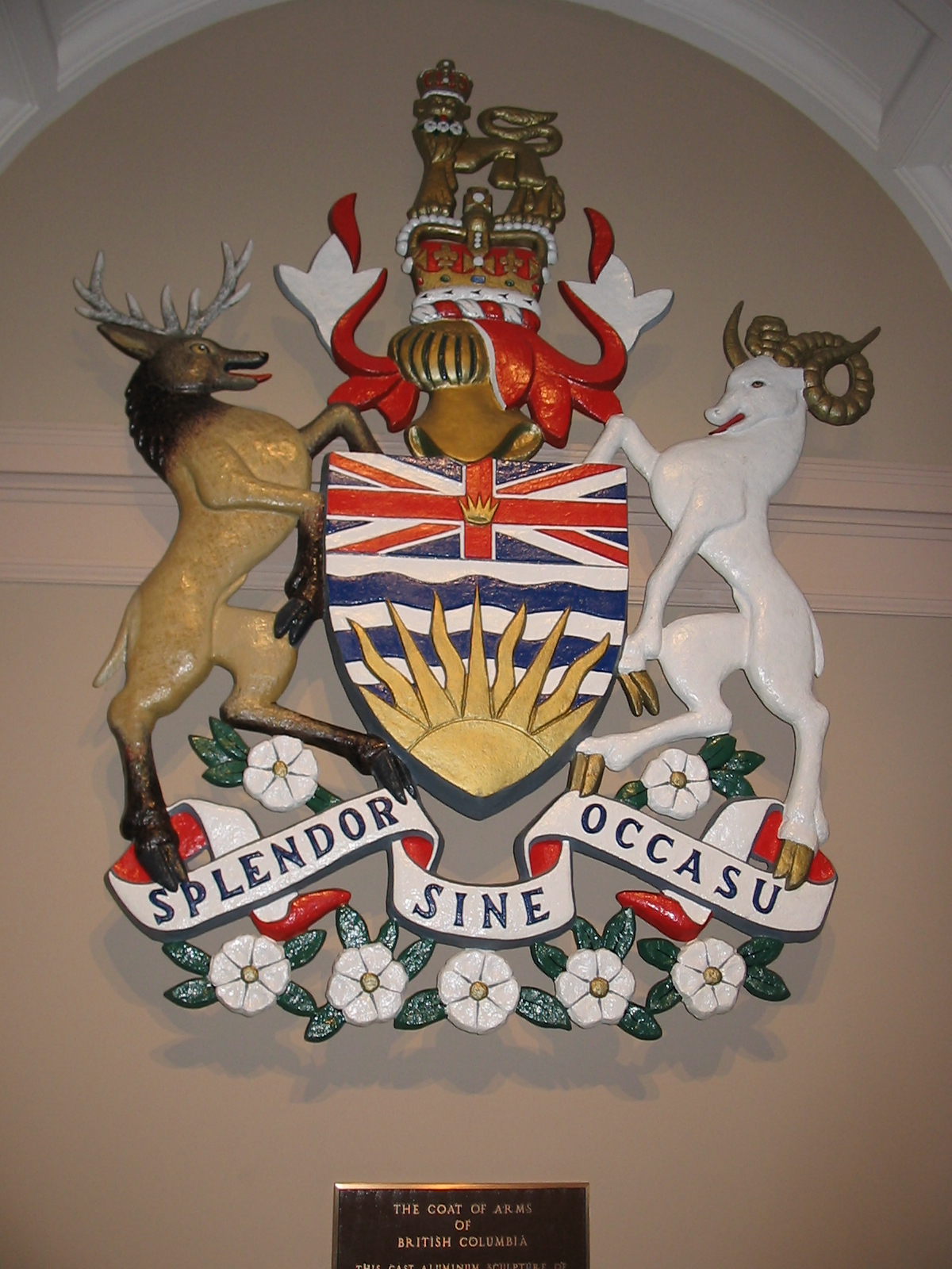 file coat of arms of british columbia jpg wikimedia commons