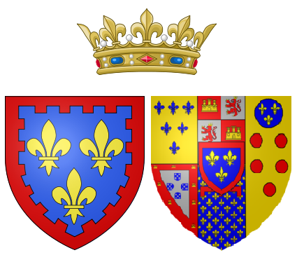 Coat of arms of Princess Caroline of Naples and Sicily as Duchess of Berry.png