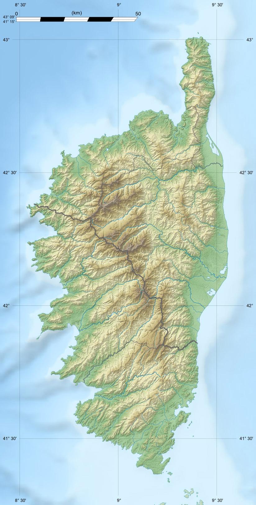 Carte Corse Monte Cinto.File Corse Region Relief Location Map Jpg Wikimedia Commons