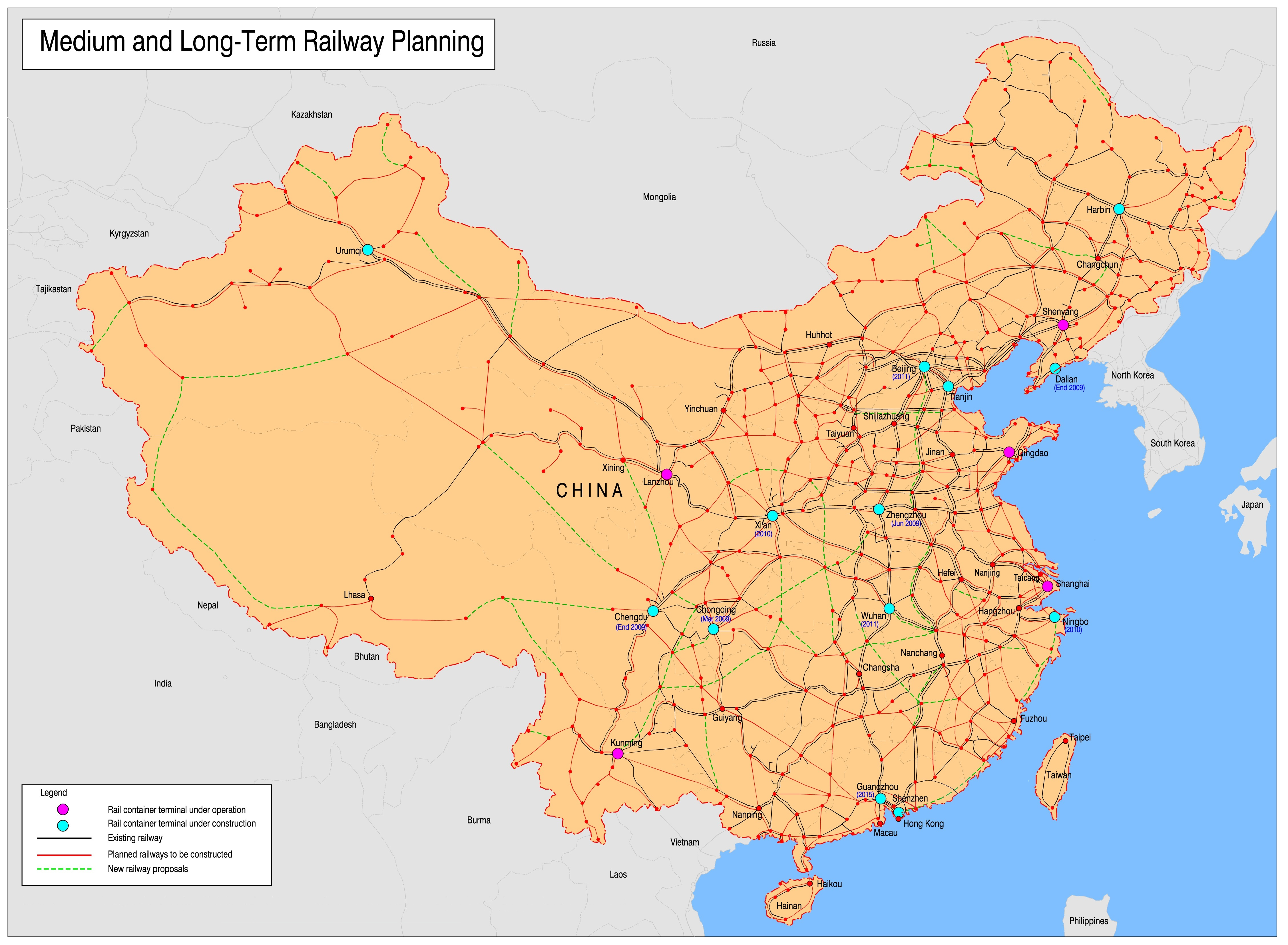File:Current and future map of China\'s Railways.jpg - Wikimedia Commons