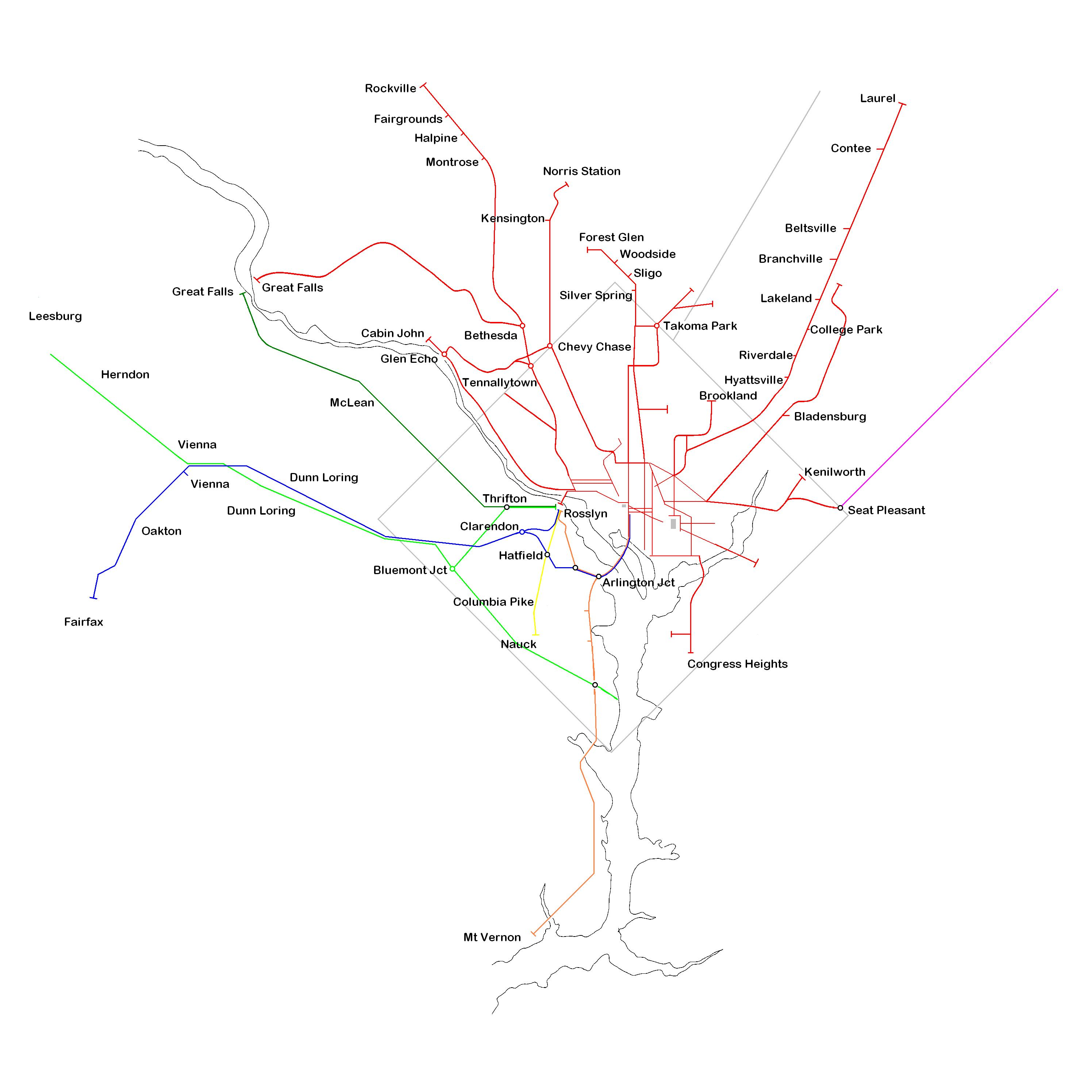 See all of the region's historic trolley routes on one map – Greater Dc Streetcar Map on