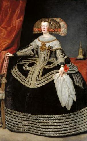 Retrato de Mariana de Austria, por Diego Velázquez (1652).