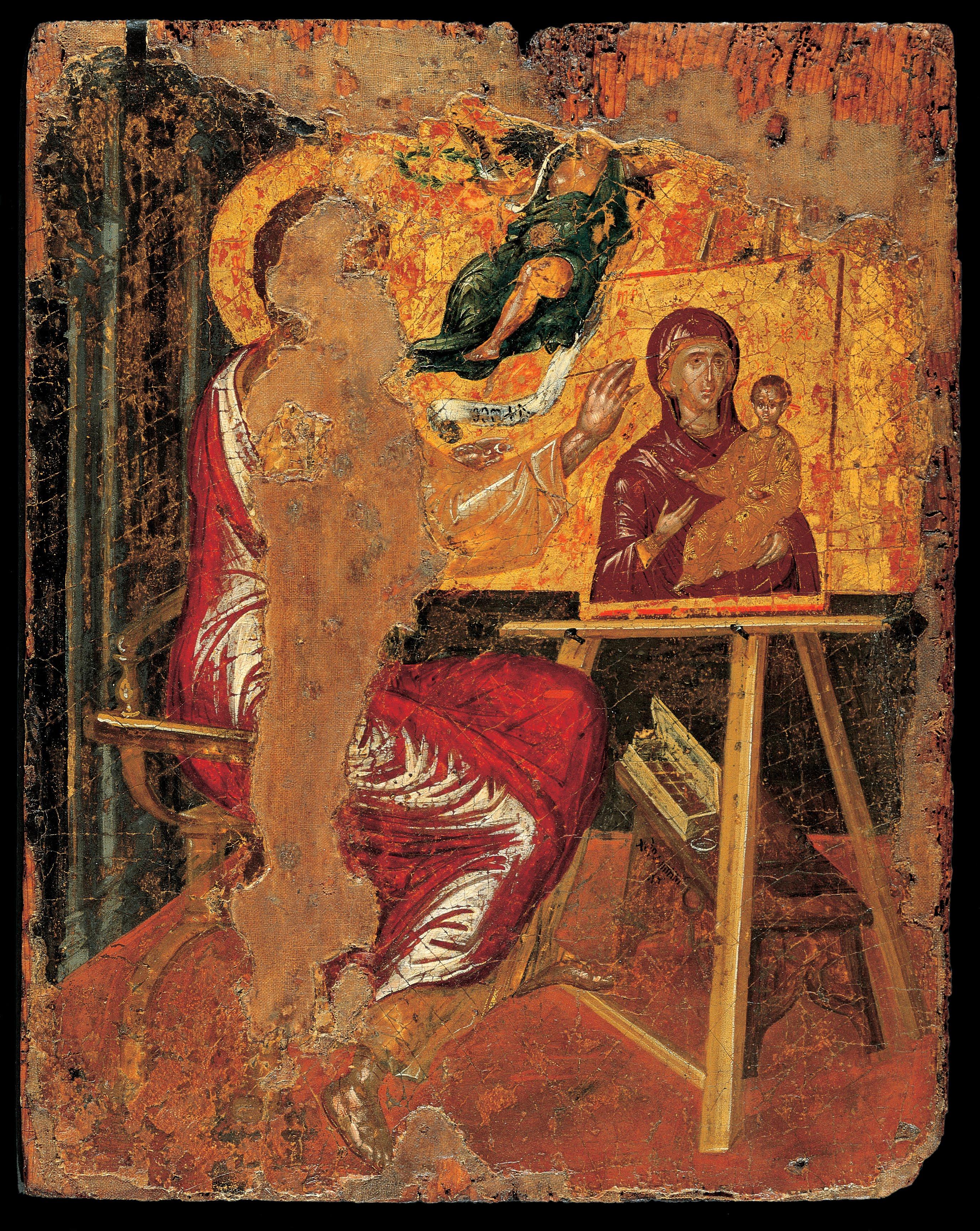 Resultado de imagen de san lucas pintando a la virgen el greco