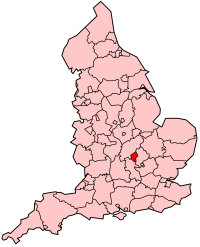Milton Keynes shown within England