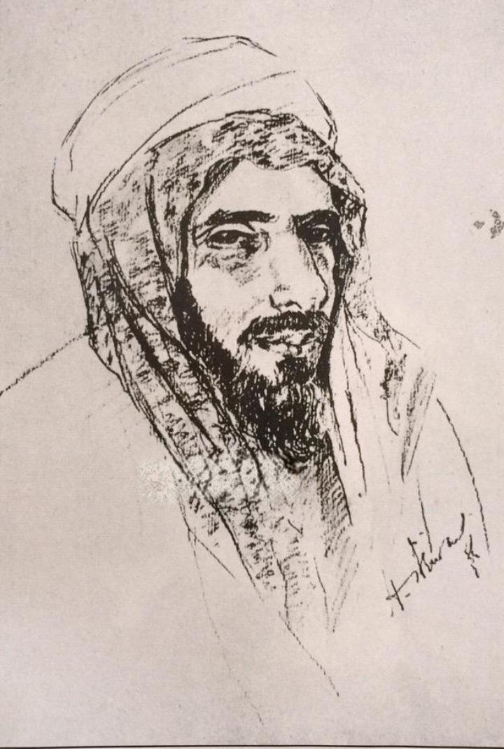الدوله السعوديه الاولى والثانيه والثالثه Faisal_al_duwaish_1930_sketch