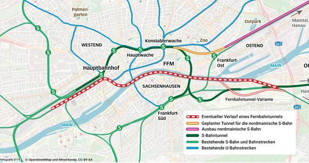 Info zum geplanten Frankfurter Fernbahntunnel @ Saalbau Gallus, Frankfurt (Nähe Galluswarte)