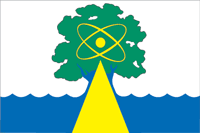 Flag of Dubna (Moscow oblast) (2003).png