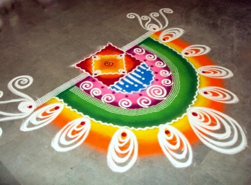 Rangoli Designs For New Year