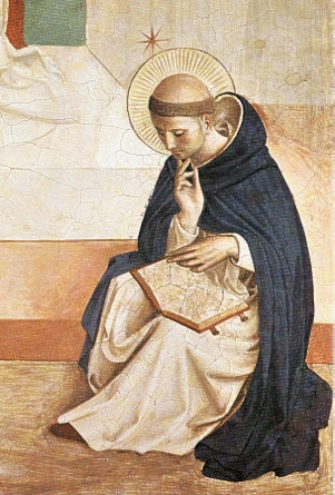 Dominic de Guzman in a fresco by Fra Angelico in the convent of San Marco in Florence.