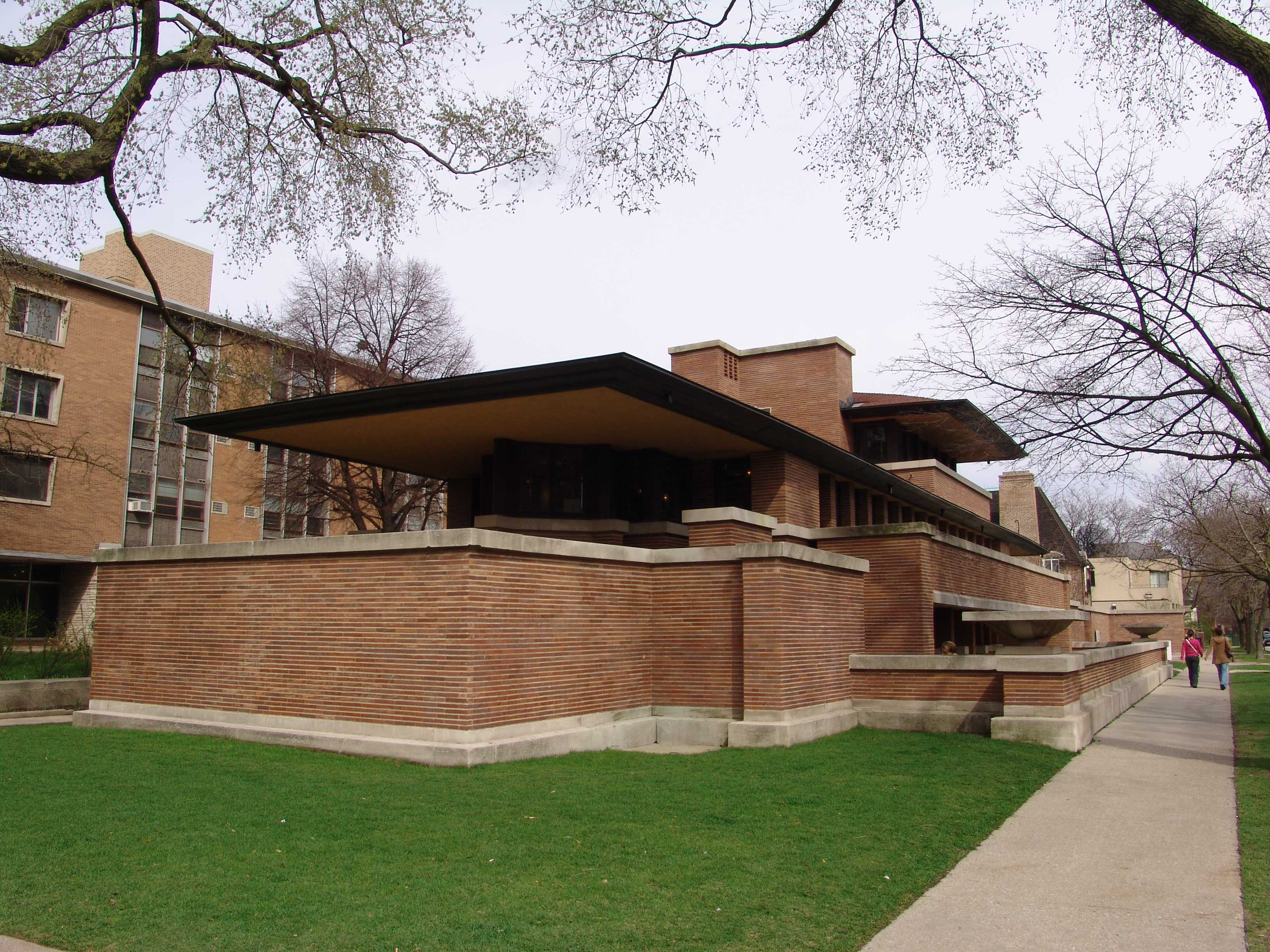 file frank lloyd wright robie house 2 jpg wikipedia. Black Bedroom Furniture Sets. Home Design Ideas