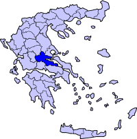 Location of Phthiotis Prefecture in Greece