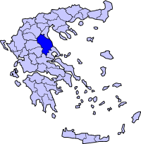 Location of Larissa Prefecture in Greece