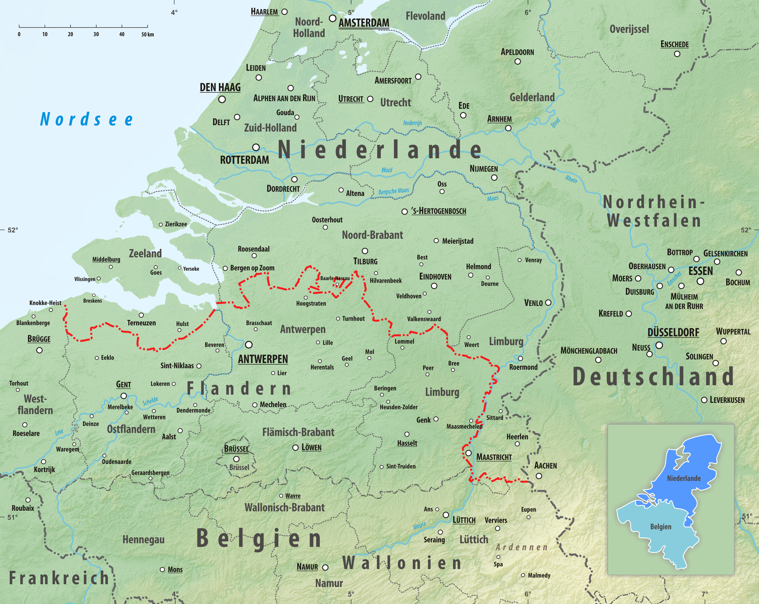 karte deutschland niederlande Grenze zwischen Belgien und den Niederlanden – Wikipedia