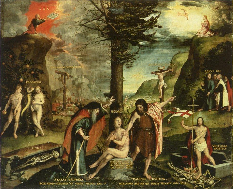 Alegoria Starego i Nowego Testamentu (obraz Hansa Holbeina) – Wikipedia,  wolna encyklopedia