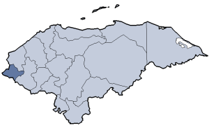 Location of Ocotepeque department