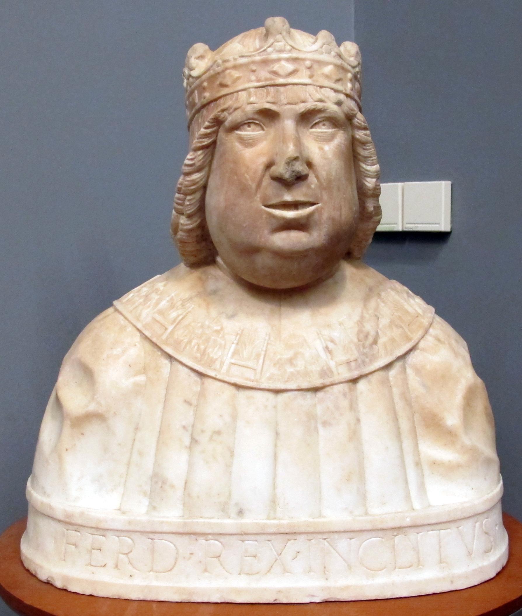 Ignoto, busto di ferrante I d'aragona, 1450-1500 ca., da palazzo de scorciatis.JPG