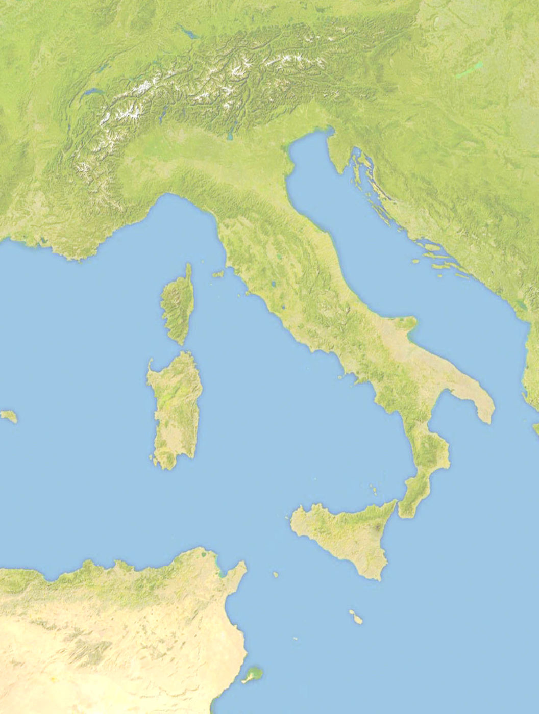 satellite map of italy File Italy Location Map Satellite Jpg Wikimedia Commons