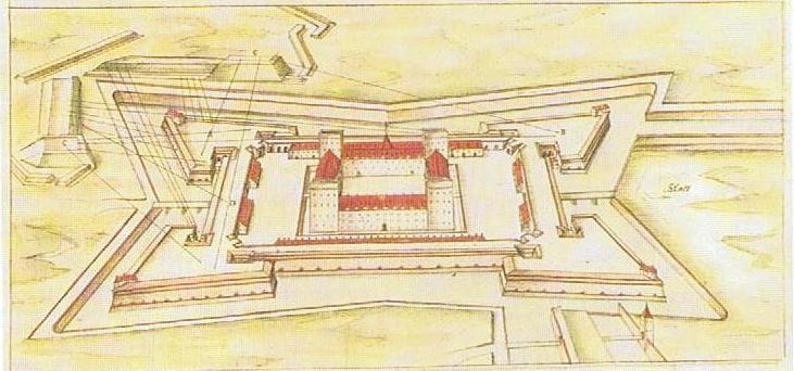 Jülich Zitadelle Specklin 1589
