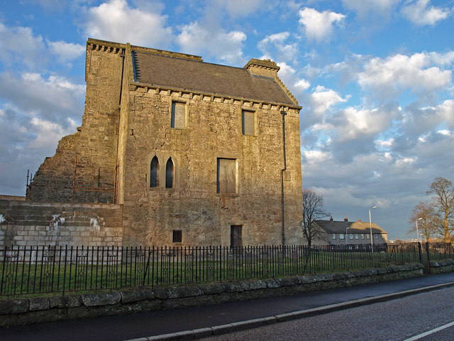 Johnstone Castle Viewed from the south.