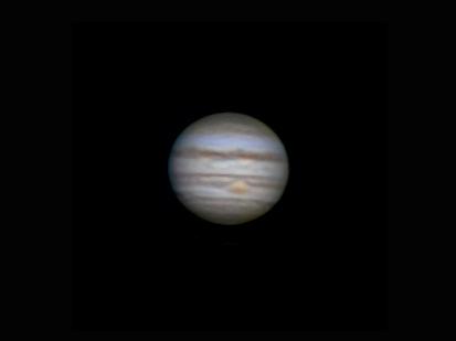 Jupiter sedd från jorden.