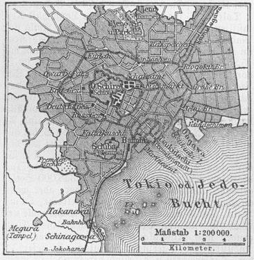 Karte Tokia MKL1888