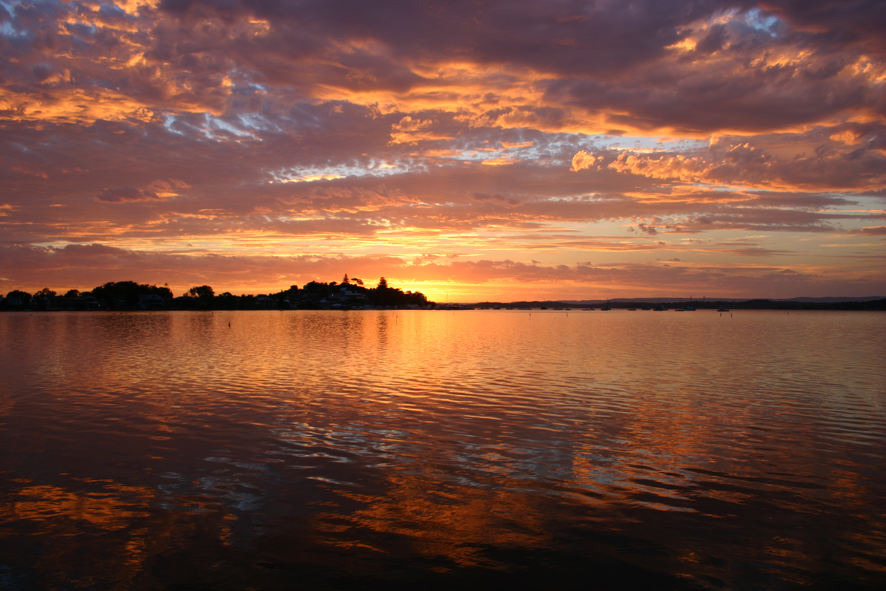 Foto Beautiful Of File Lake Macquarie Dusk Jpg Wikimedia Commons