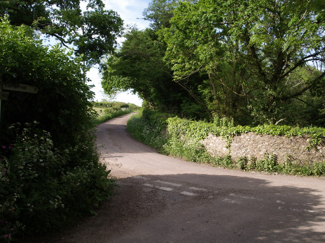 Lane junction near Hartgrove Farm - geograph.org.uk - 450105