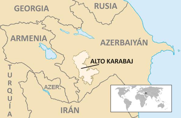 Archivo:Localización de la región del Alto Karabaj.png