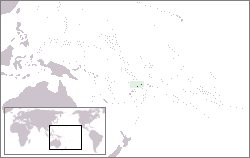 Location of Wallis and Futuna