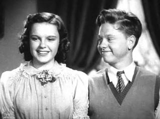 Cropped screenshot of Judy Garland and Mickey ...