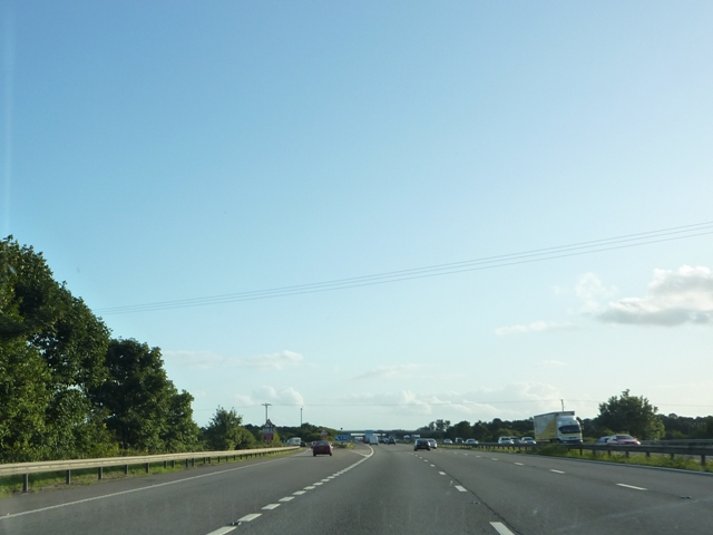 File:M5 Southbound Junction 22 - geograph.org.uk - 1450736.jpg