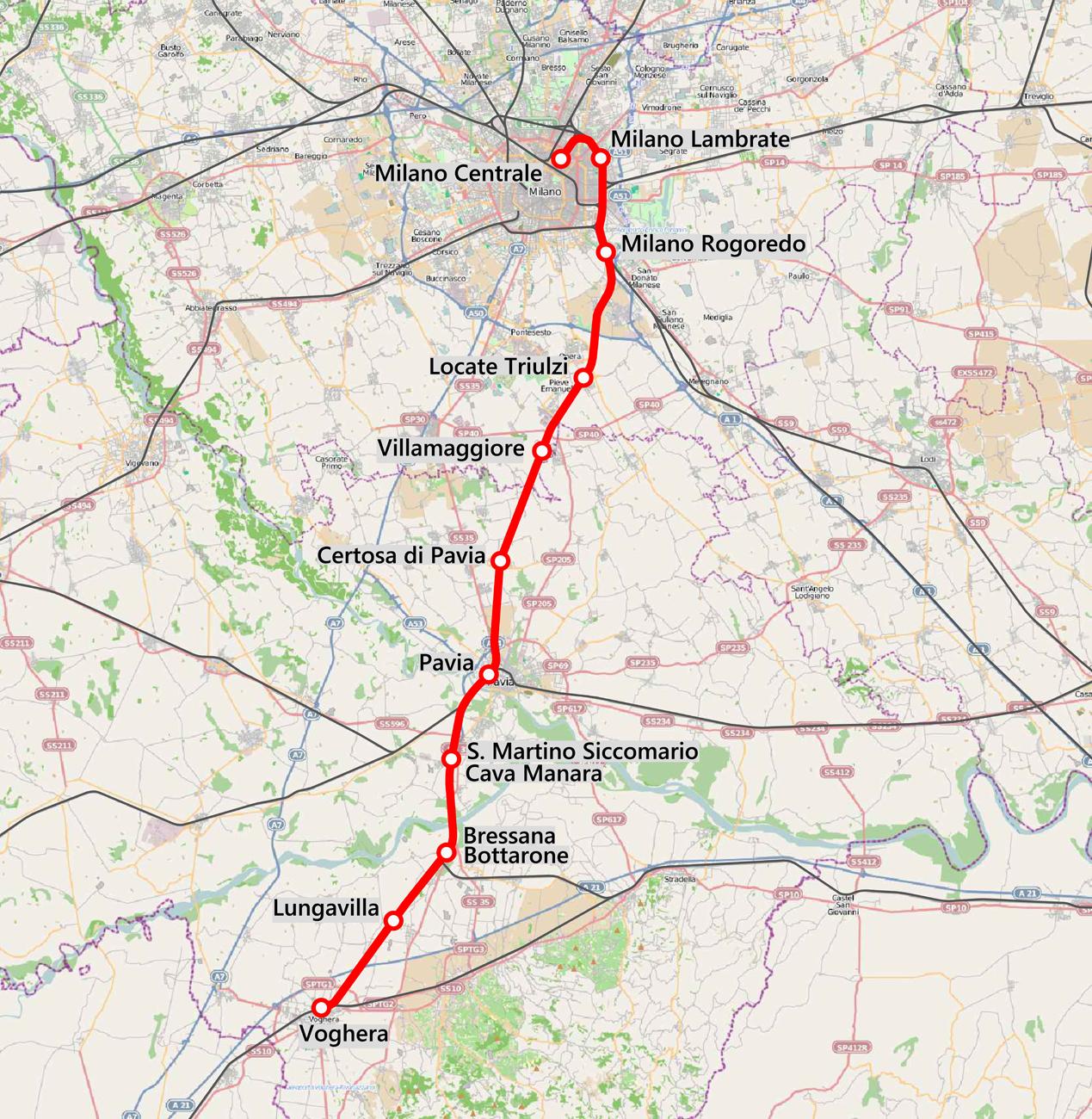 Pavia Cartina.File Mappa Ferr Milano Pavia Voghera Png Wikipedia