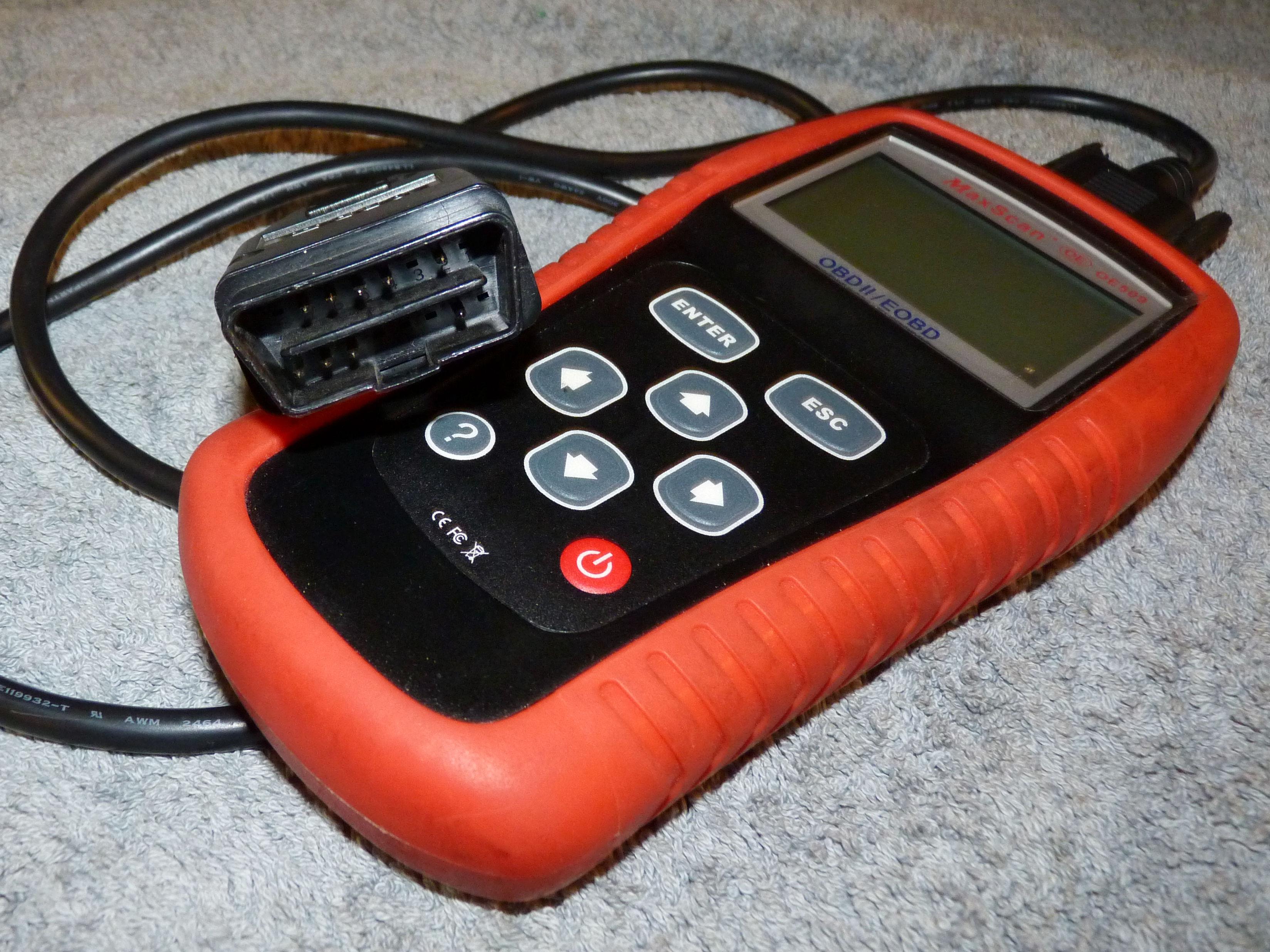 OBD2 scanner for O2 test.