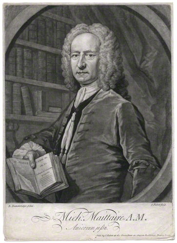 Michel Maittaire, mezzotint by [[John Faber the Younger
