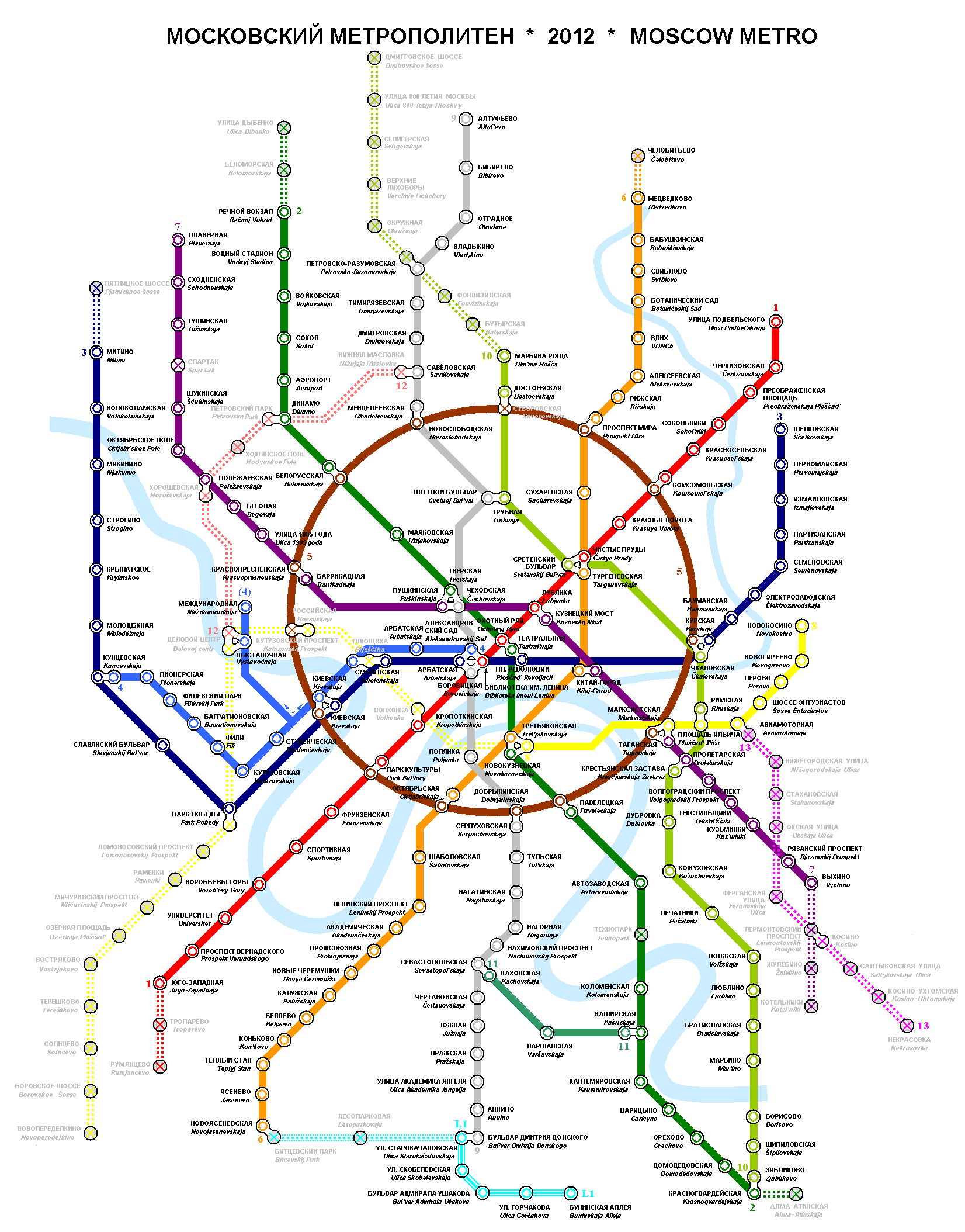 Description moscow metro map ruslat