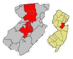 NJ 18th Legislative District (2011 apportionment) within Middlesex County