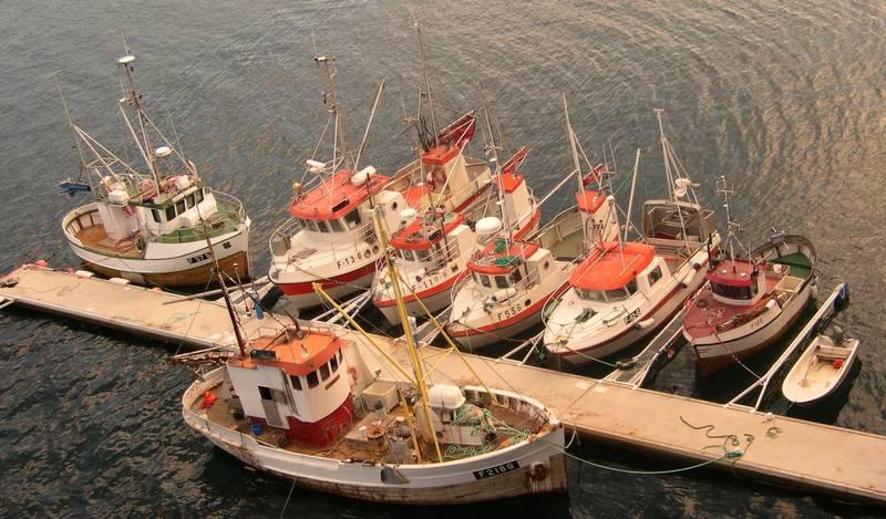 Fiskebåter i Finnmark. Foto: David Nilsen. No (c)opyright