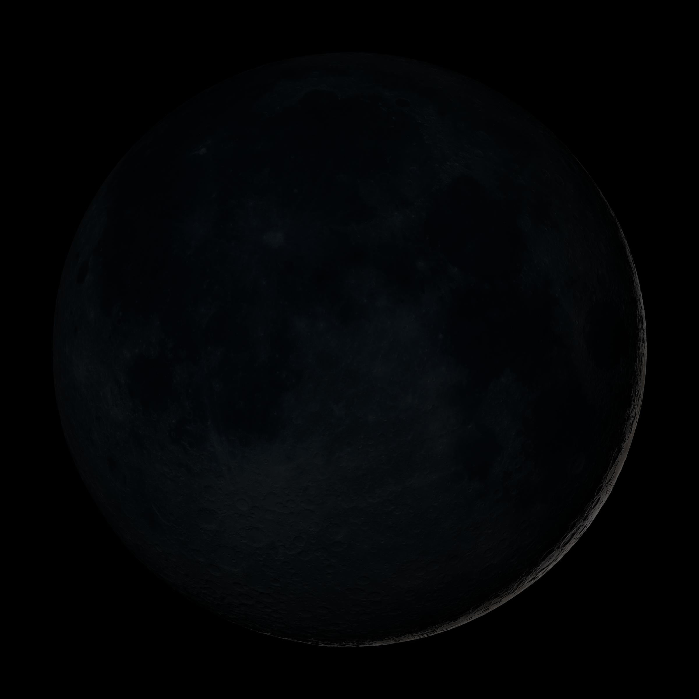 New Moon - Image Via Wikipedia - A thin, thin sliver of silver along the edge of the dark face of the moon.