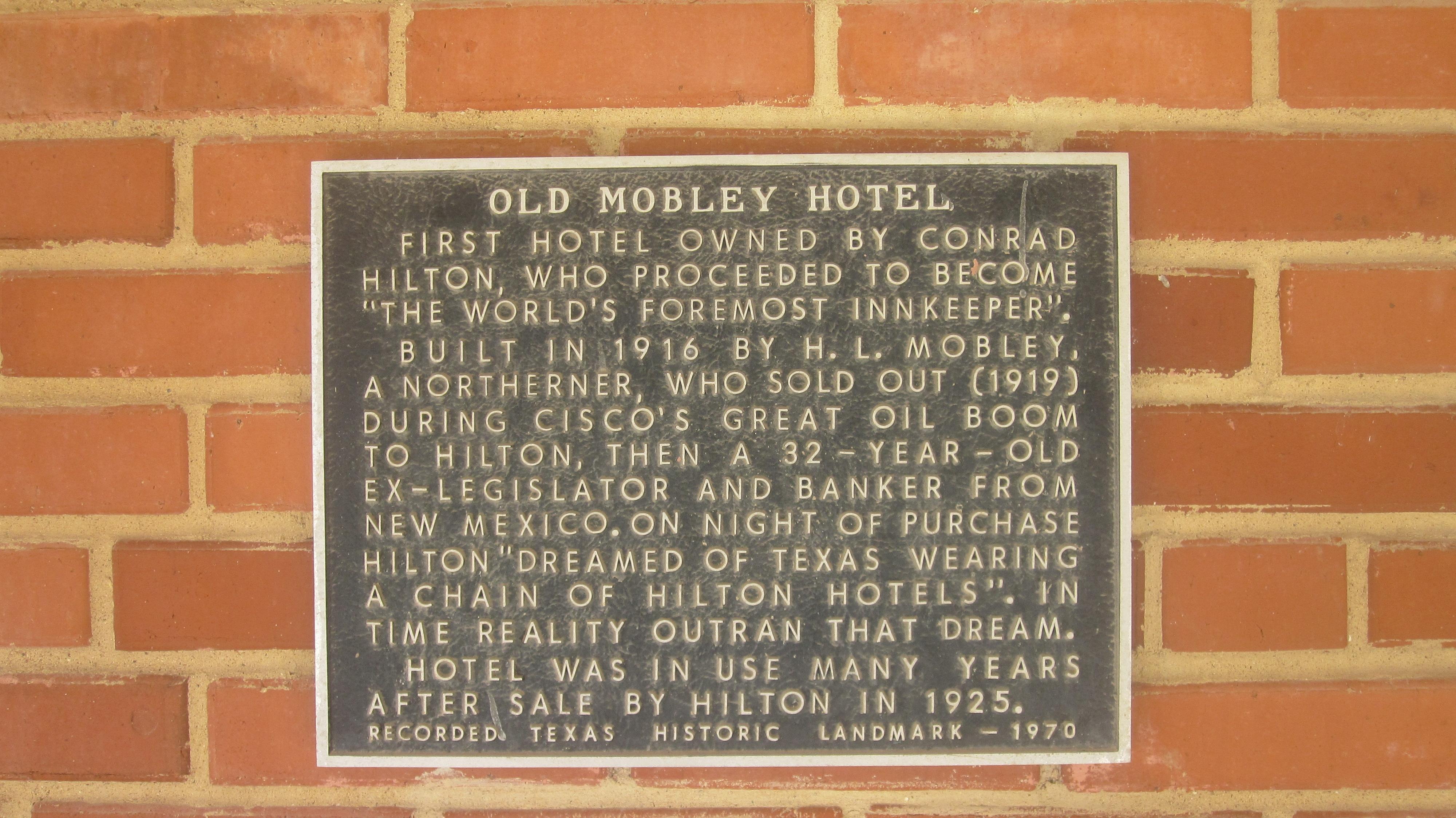Mobley Hotel Cisco Tx