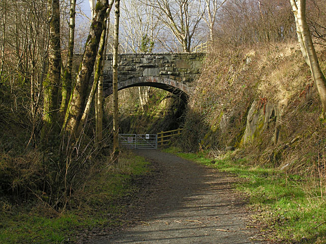Old railway bridge at Ystrad Meurig - geograph.org.uk - 1158416