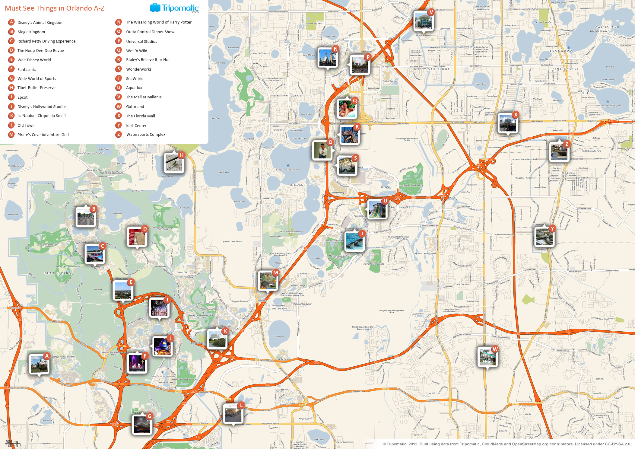 FileOrlando printable tourist attractions mapjpg Wikimedia Commons – Florida Tourist Attractions Map