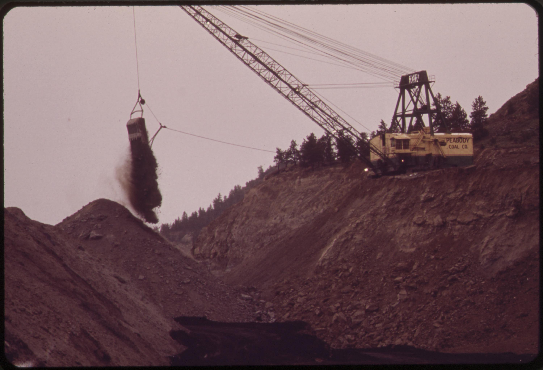 Rough Terrain Crane Wikipedia : File peabody coal company strip mine south of colstrip