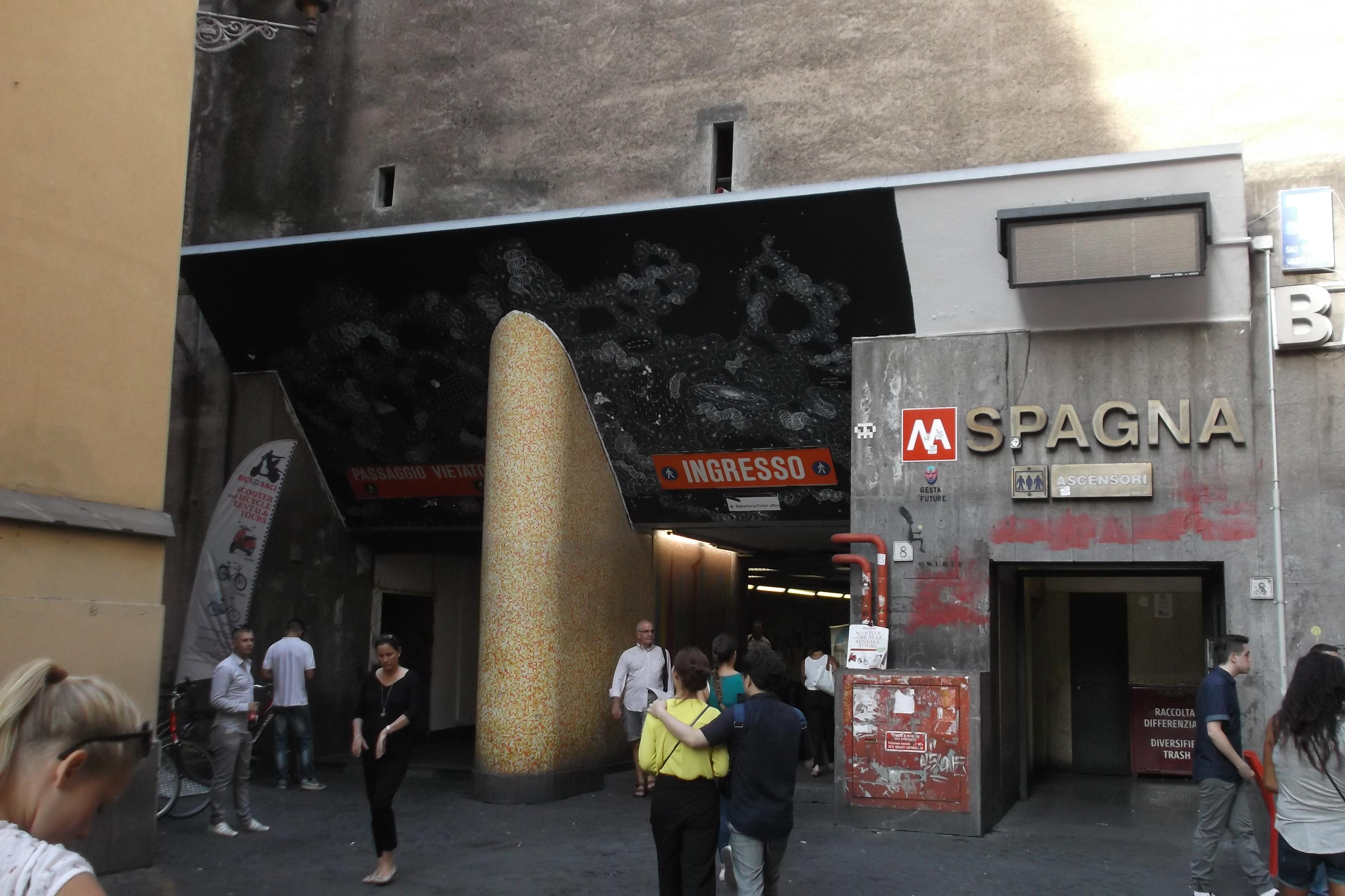 Piazza Di Spagna Cartina.Spagna Metropolitana Di Roma Wikipedia