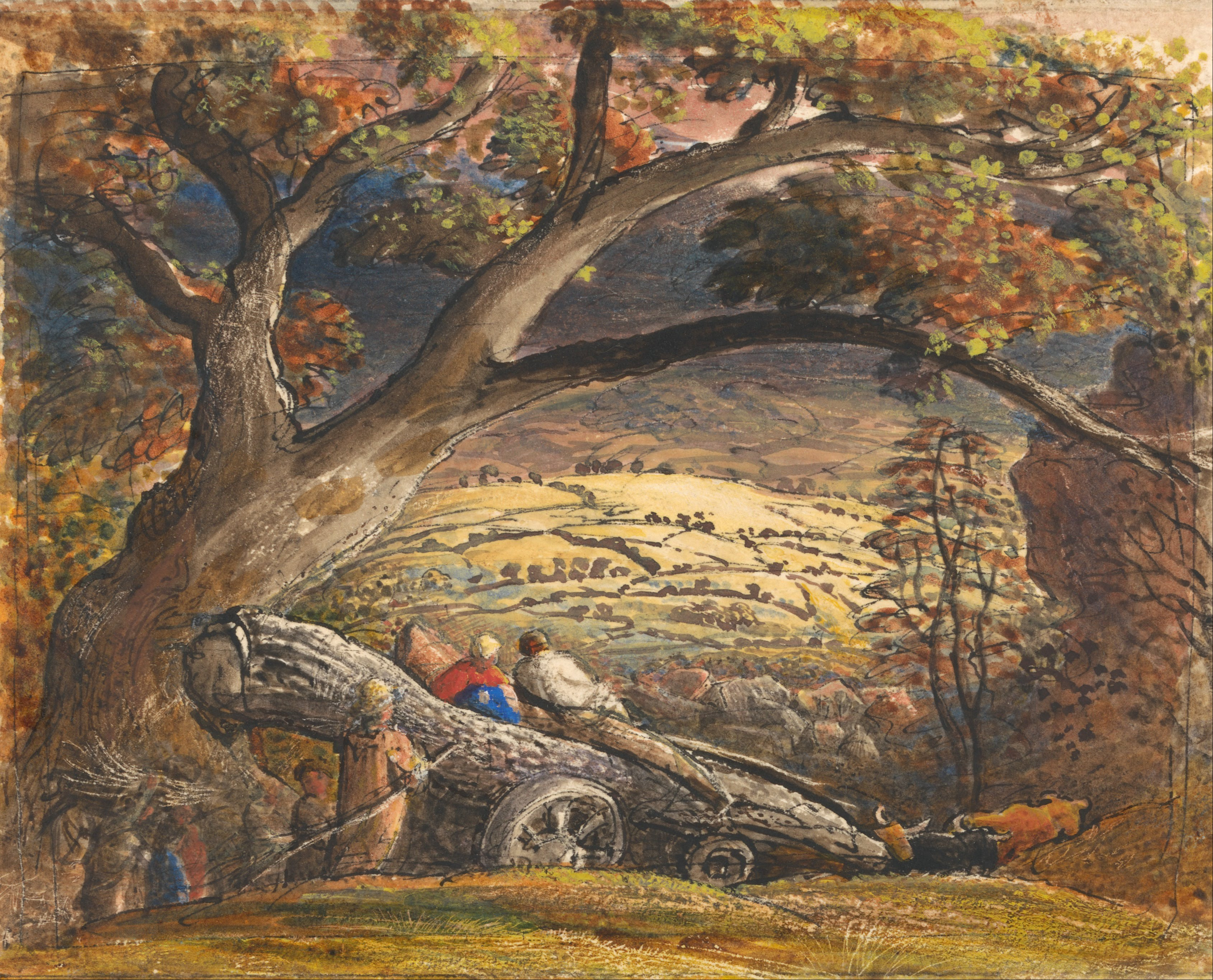 File Samuel Palmer The Timber Wain Google Art Project